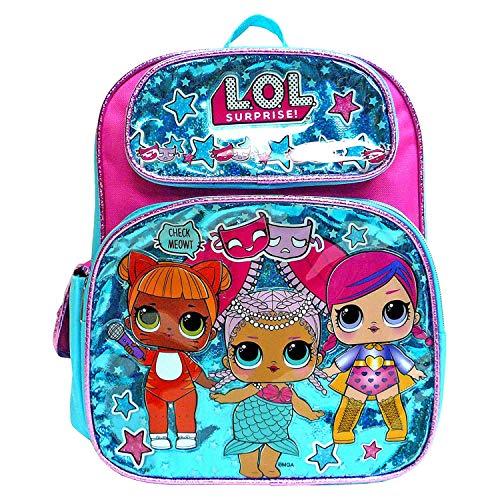 3D Pop out L.O.L Surprise Backpack Book Bag Dolls Travel Bag (Medium 12