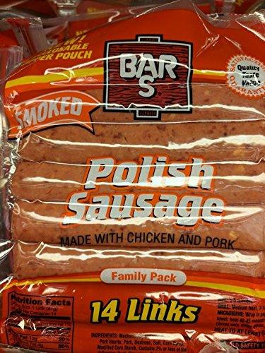 Bar S Smoked Polish Sausage Links 40 Oz (2 Pack)