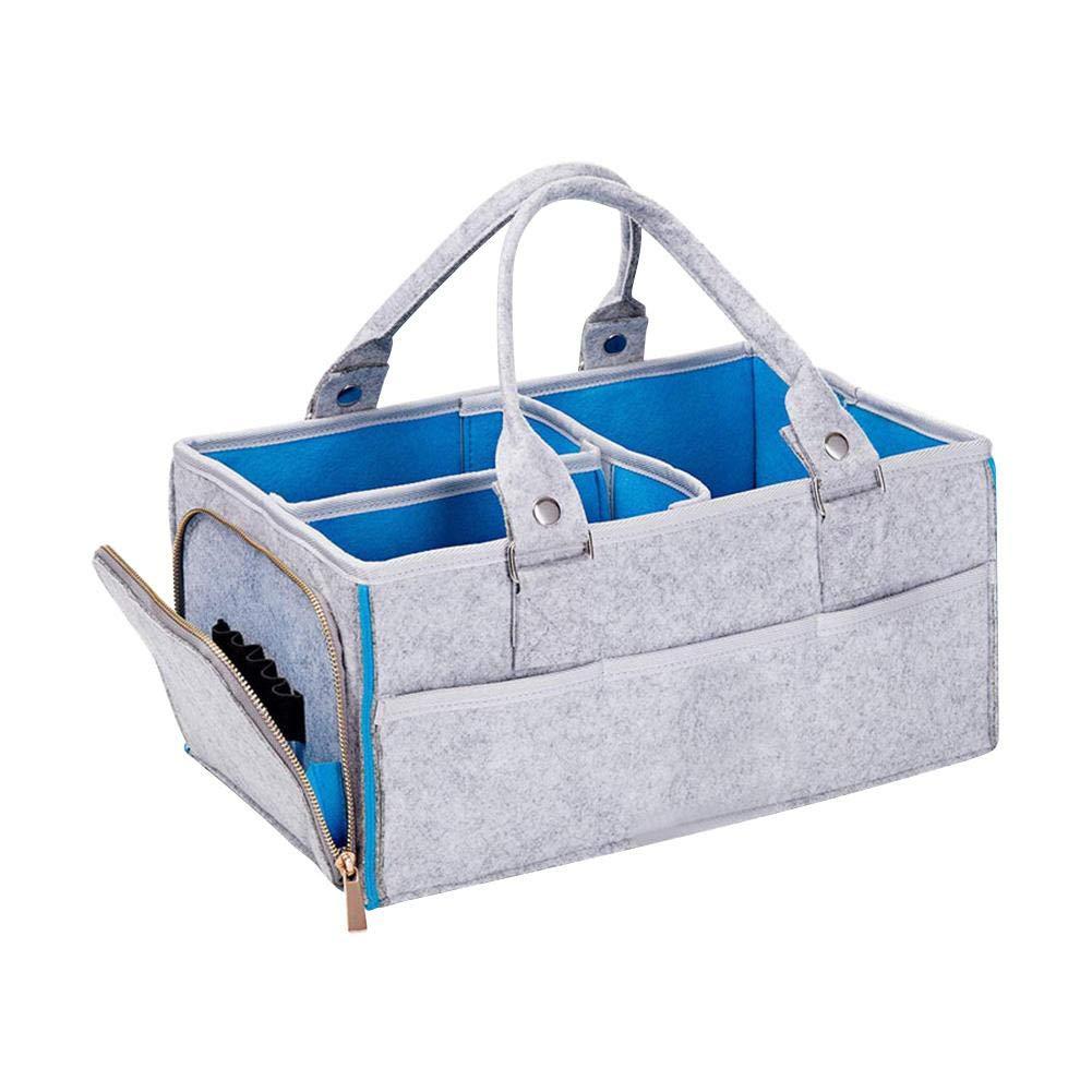 Navigatee Baby Diaper Caddy Organizer,Baby Diaper Caddy Organizer Portable Car Travel Storage Basket Folding Storage Bin For Changing Table Kids Toy