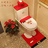 Hotel Hotel Bathroom Christmas Decorations Santa Toilet Set Christmas Gifts Christmas Ornaments Elderly three-piece toilet