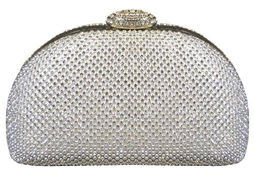 Peacock Cena del bolso del bolso de la novia Bolsa Conjunto elegante Auger Sra mini bolso-32833 plateado