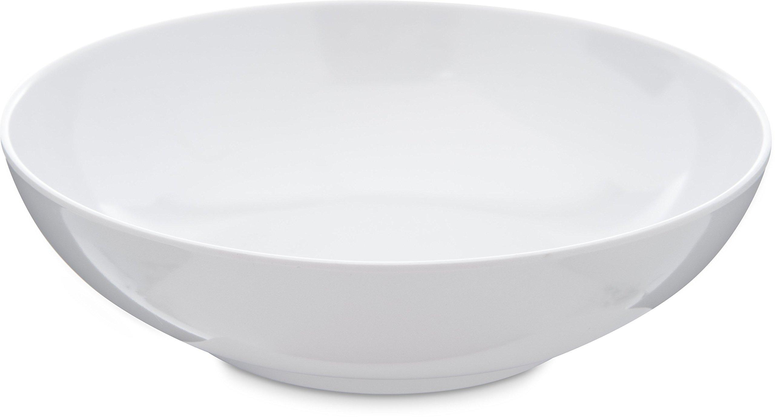 Carlisle 4381402 Epicure Soup / Salad Bowl, 20 Oz., White (Set of 12)