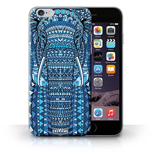 Etui / Coque pour iPhone 6+/Plus 5.5' / éléphant-Bleu conception / Collection de Motif Animaux Aztec