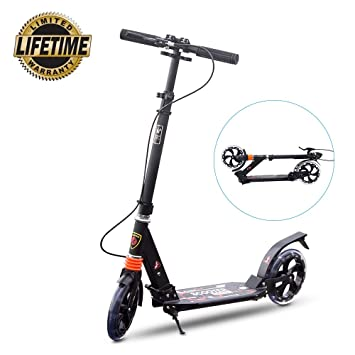 Yuanj - Patinete para Teenager/Adulto, 2 Ruedas Scooter, 3 ...
