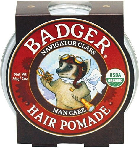 Organics Pomade (Badger Man Care Hair Pomade, 2 oz tin)