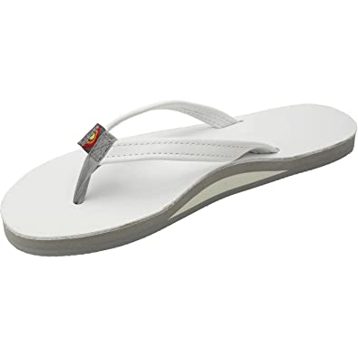 27c5bd3629c Rainbow Sandals Women s Premier Leather Single Layer Narrow White X-Large    8.5-9.5 B(M) US  Buy Online at Low Prices in India - Amazon.in