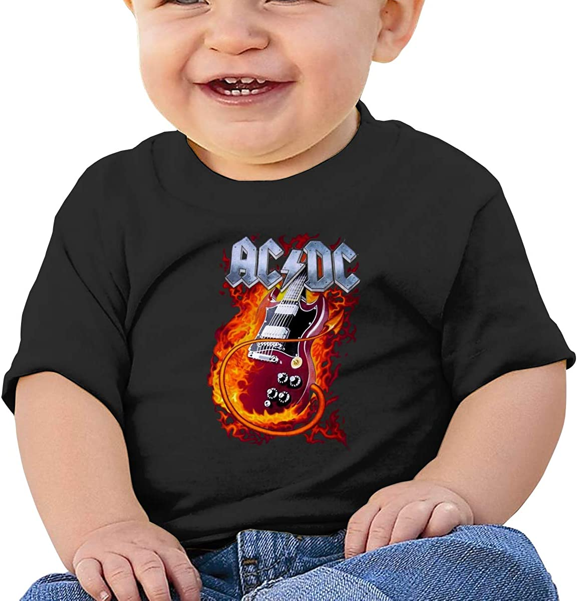 AC DC Toddler Baby Tee for Baby Boy and Baby Girl T-Shirt 18M