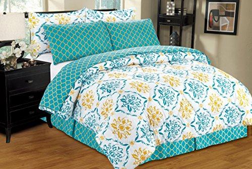 Ultra Soft 8 PC Reversible Bed in a Bag Comforter Set (Queen, (Montana Queen Sheet Set)