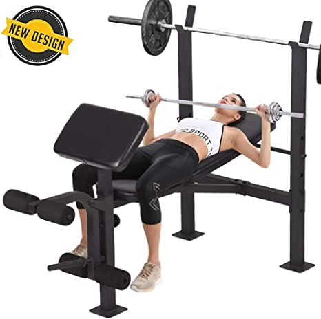 New Cap Barbell Fitness Home Gym Adjustable Weight Bench Flat Decline Incline