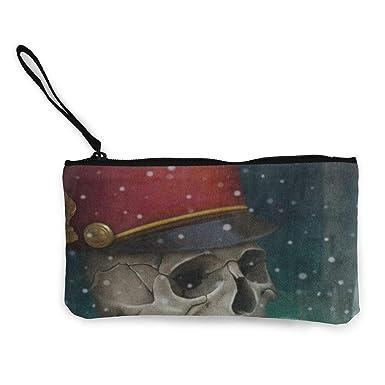 Amazon.com: Monedero de lona para Halloween, calavera, gorro ...