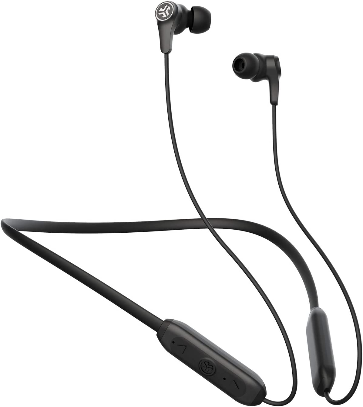 JBuds Band Wireless Earbud Neckband Headset - Black - IP66 Sweatproof - Bluetooth 5 Connection - Built-in Microphone for Phone Calls - 3 EQ Sound Settings: JLab Signature, Balanced, Bass Boost