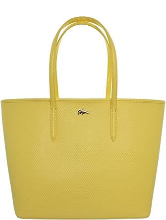 90ce65179b Lacoste - Sac Shopping M en cuir porté épaule ref_cem37432-823-aurora-jaune:  Amazon.fr: Vêtements et accessoires