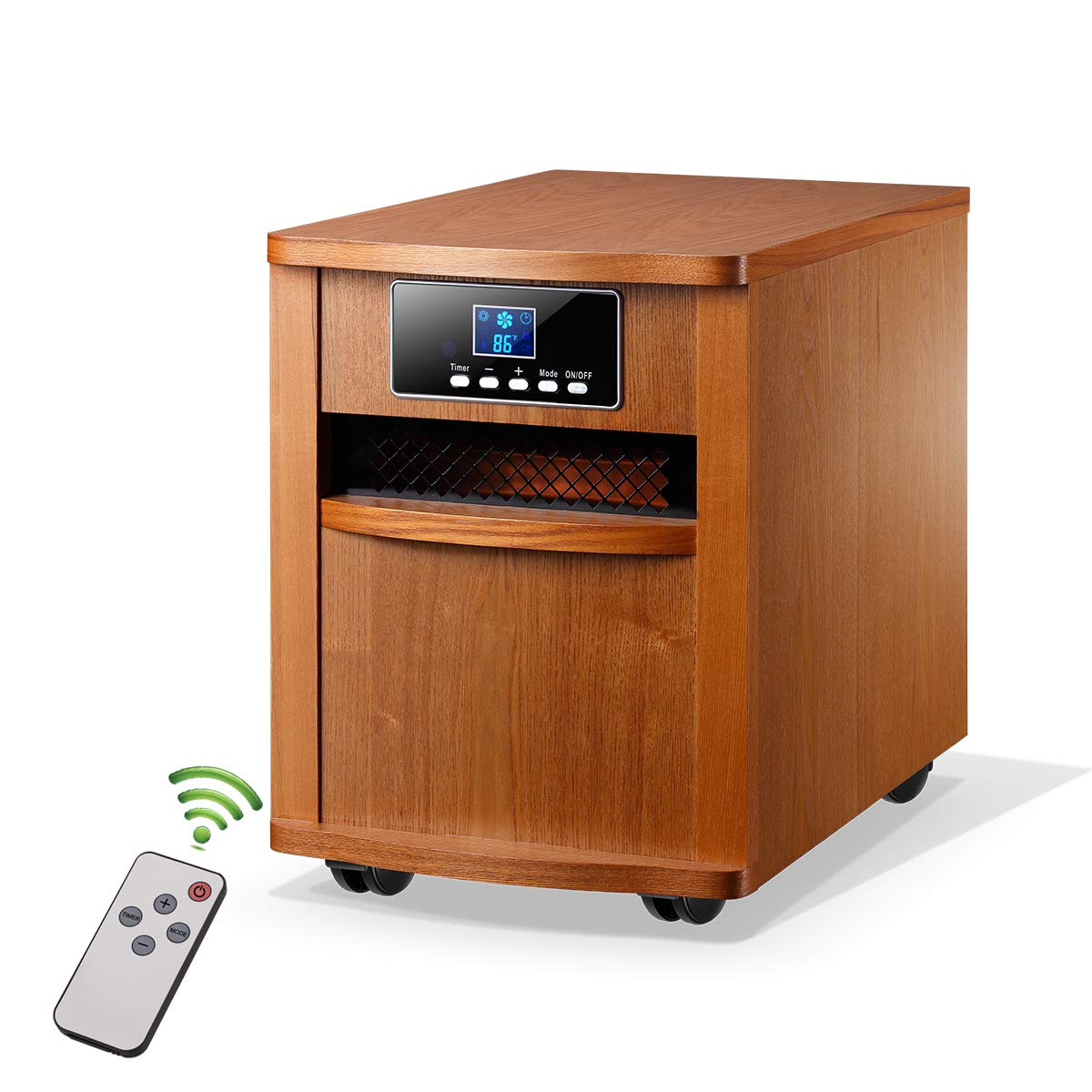 Homeleader Infrared Heater Portable Space Heater, with Remote Control, Digital Infrared Quartz Heater, 1500W, IWH-01