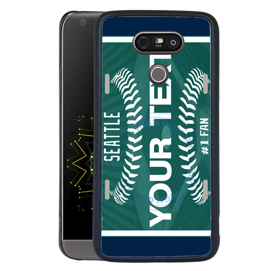 BRGiftShop Personalize Your Own Football Team Seattle Rubber Phone Case For LG G5
