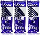3 Pks 30 Pieces Dorco Fresh Twin Blade Disposable