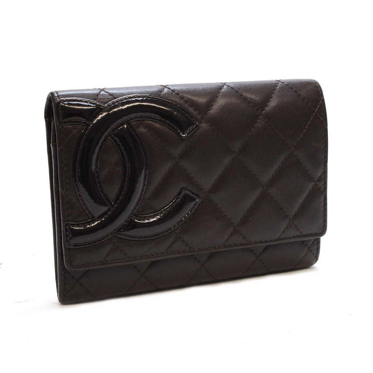 シャネル カンボンライン 中財布(ファスナー式小銭入れ付き) A26722
