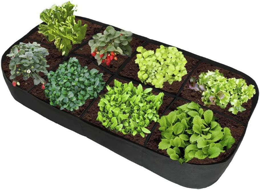 APEEDV Fabric Raised Planting Container Garden Grow Bag Breathable,Fabric Raised Garden Bed for Plants, Flowers, Vegetables (71