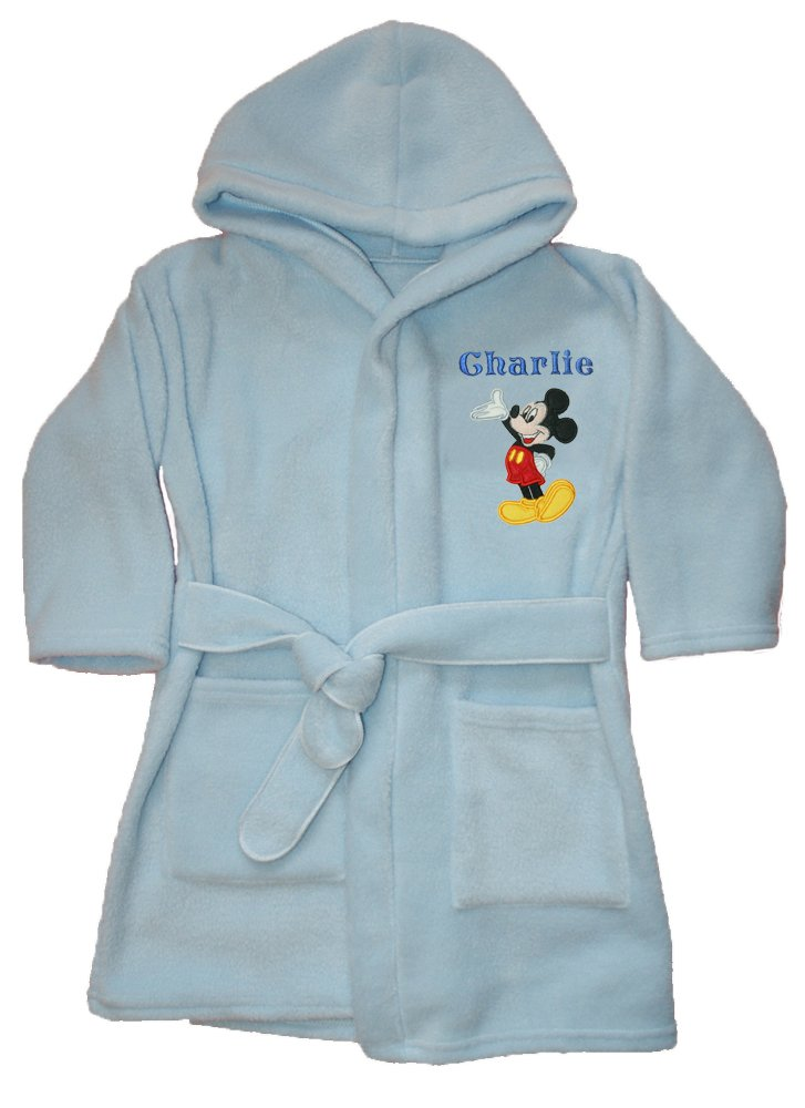 Mickey Mouse Good Day Luxury Personalised Super soft Fleece Dressing ...
