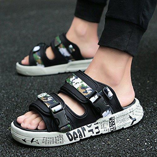 gioventù fresco Verde fankou di moda tendenza della sandali medie personalità gli selvatica Uomini estate il marea e 44 scuole studenti delle sandali rxTXn1zgwx