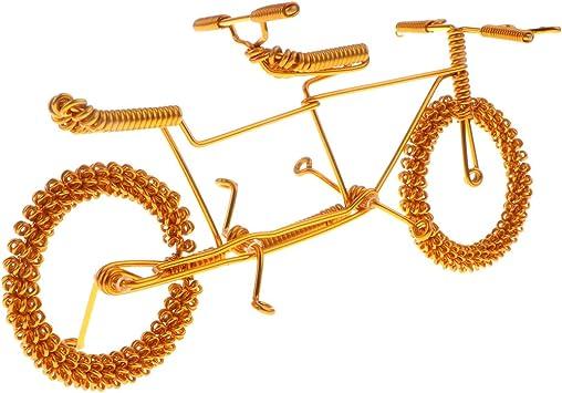 Toygogo Metal Craft Bicicleta Tándem Modelo De Bicicleta De Casa ...