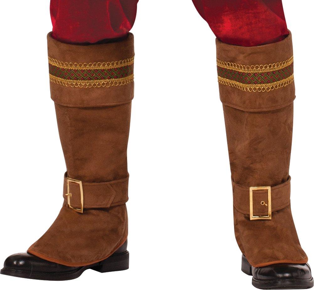 Forum Novelties Men's Deluxe Santa Boot Tops, Brown, One Size