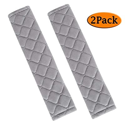 ANDALUS Seat Belt Covers for Adults, Car Seatbelt Cover, 2 Pack, Universal, Soft, Comfortable (Gray): Automotive