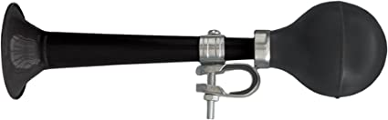 CLEAN MOTION TRUMPETER CHROME BICYCLE HORN