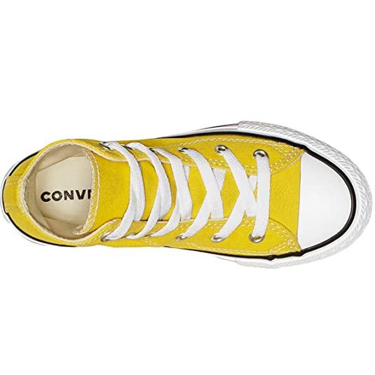 Converse Youth CTAS Seasonal Hi Canvas Bold Citron Ivory