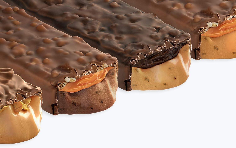 Prozis Melty 60 g - Barrita proteica con bajo contenido en azúcares Brownie de dulce de leche Barrita Crujiente De Triple Capa Sin Aspartamo: Amazon.es: ...