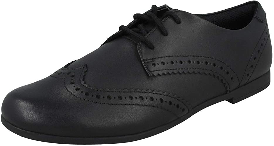 Clarks Scala Lace Kid Leather Shoes in