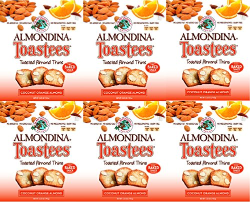 - Almondina Toastees, 5.25 oz Package (Pack of 6) (Coconut Orange Almond)