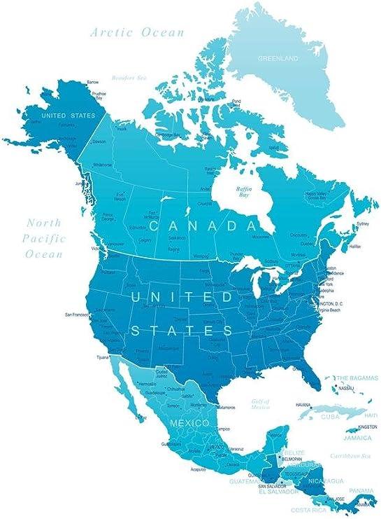 United States Canada Map Amazon.com: Detailed Map of North America United States Canada