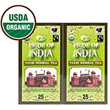 Pride Of India - Organic Tulsi Holy Basil Tea (Decaf), 25 Count (2-Pack) REGULAR PRICE: $19.99, HOLIDAY SALE PRICE: $15.99
