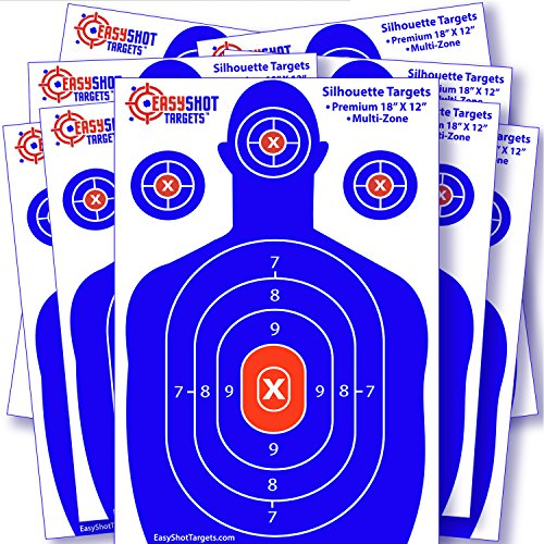 EasyShot Targets Silhouette Targets for Shooting, 10-Pack (12-Inch by (Best Target 22)