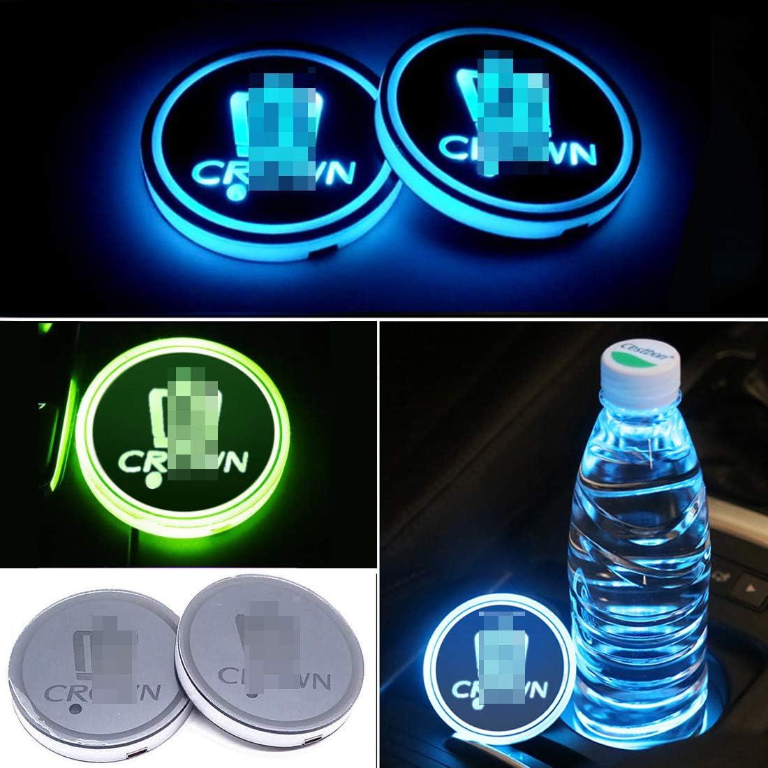 Car Solar Powered Cup Mobile Phone Bottle Holder Pad LED Atmosphere Light