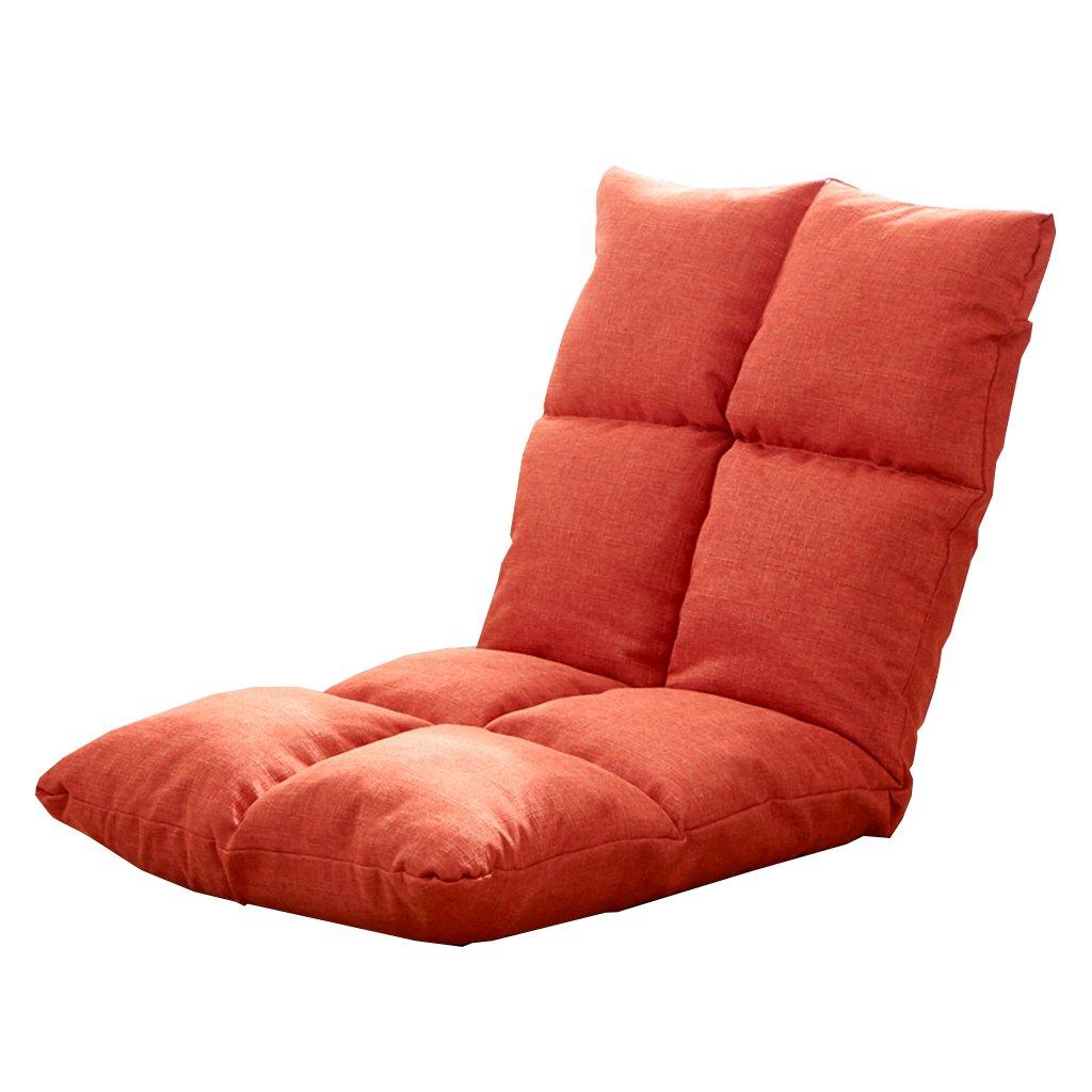 Unbekannt Bodenstuhl Meditations-faltender Fußboden-Stuhl, Bewegliches Justierbares 6 Positionen Faules Sofa Für Schlafzimmer-Klassenzimmer