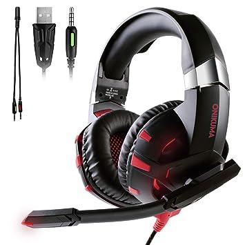 ATUTEN Cascos Gaming Auriculares Estéreo Profesionales, K2 Gaming ...