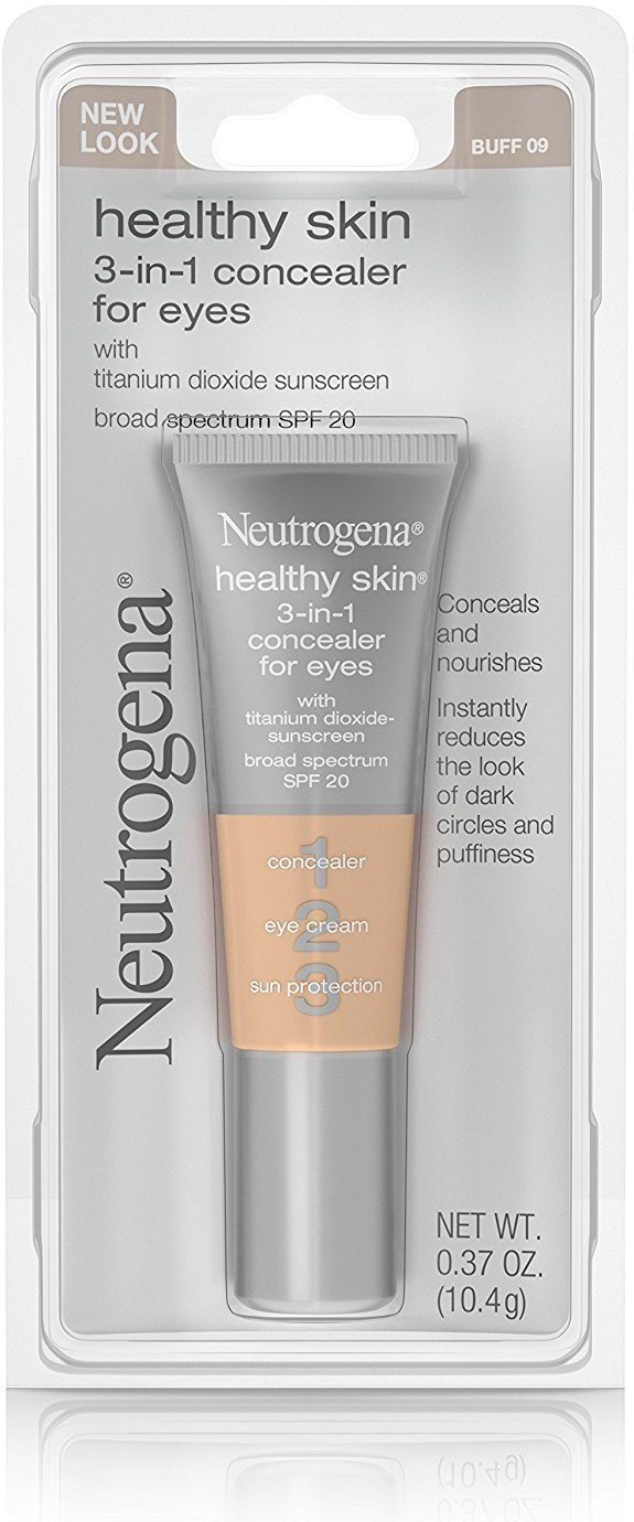 Neutrogena 3-in-1 Concealer for Eyes, SPF 20, Buff [09] 0.37 oz (12 Pack)