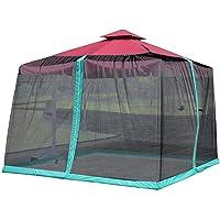Parasol Mosquitera 300x300x230 (altura) Cm Carpa Con Toldo En El Patio, Cubierta De Red Con Sombrilla Fácil De Instalar…