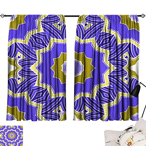 (Hariiuet Living Room Curtains Seamless Art Deco Floral Pattern with Modern Style Ornament on Color Background for Wallpaper Cover Book Fabric scrapbooks 16 84