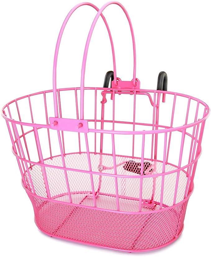 Colorbasket 02270 Mesh Bottom Lift-Off Bike Basket with Handles Powder Coated Steel
