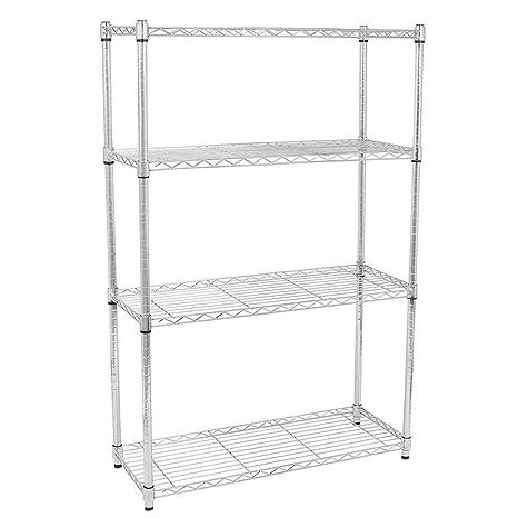 Amazon.com: azadx estantería, 4 estantes estantería para de ...
