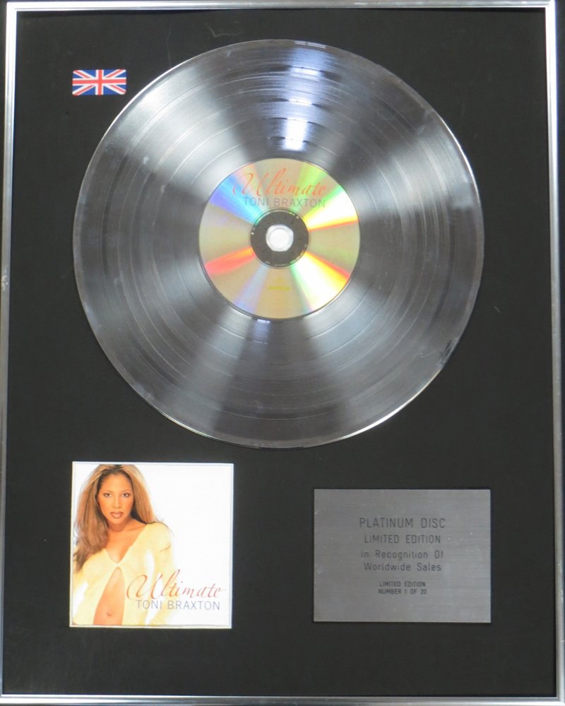 Century Music Awards Toni Braxton Ltd Edtn CD Platinum Disc - The Ultimate Collection