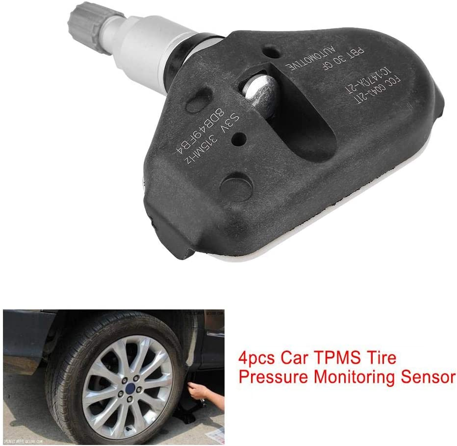Hlyjoon 06421-S3V-A04 4Pcs Car Vehicle Tire Pressure Monitoring Sensor for TL MDX RL 2005 2006 2007 2008 Ridgeline Odyssey Pilot 2005-2014 TPMS