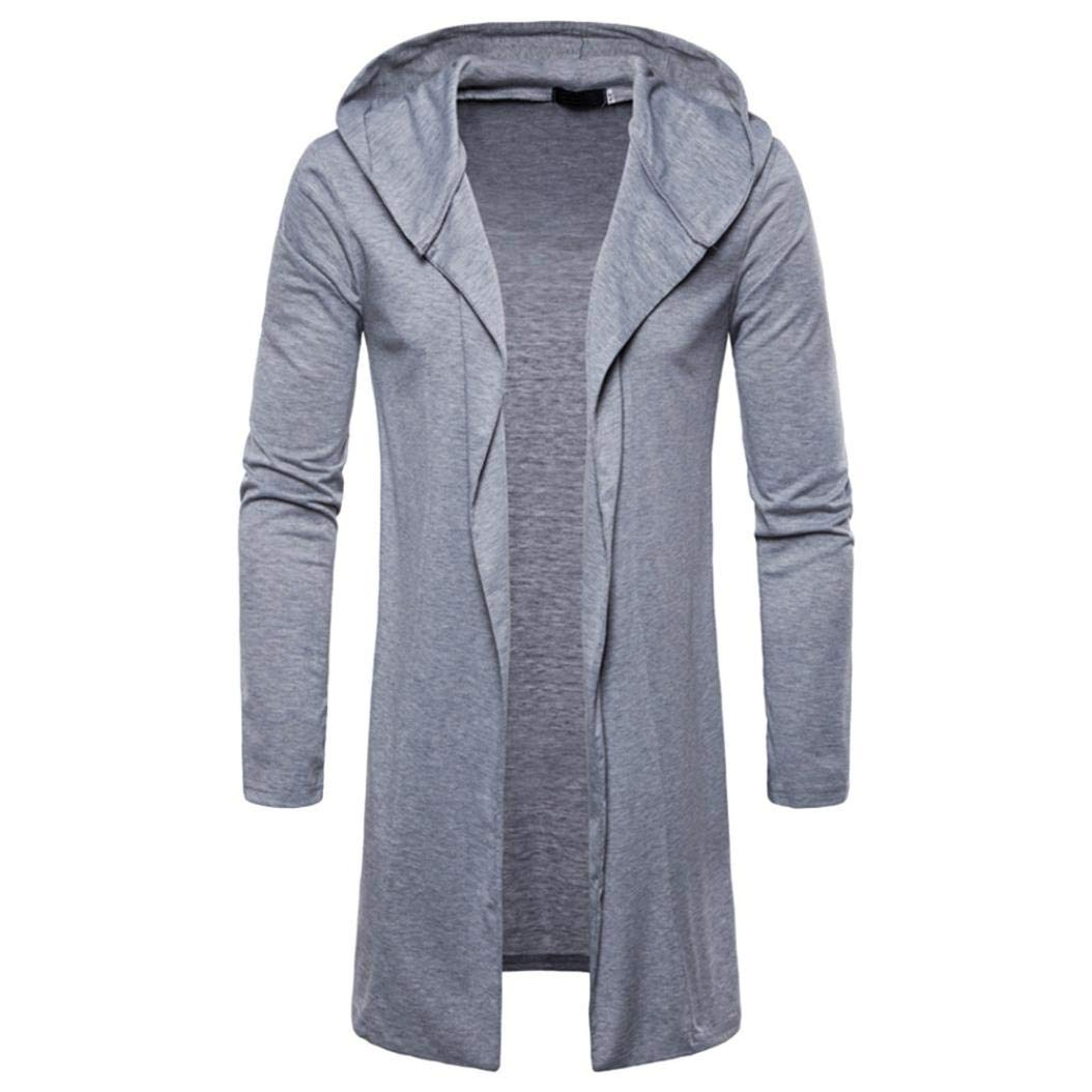 Longra☀☀☀☀☀ Abrigo de Moda Personalizado para Hombre con Capucha sólido Trench Coat Jacket Cardigan Manga Larga Outwear Blusa: Amazon.es: Deportes y ...