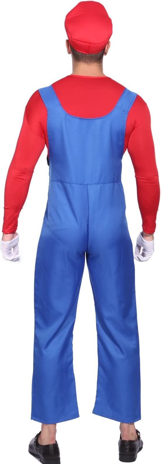 Anladia Disfraz de Mario Bros para Adulto Hombre Cosplay Dress ...