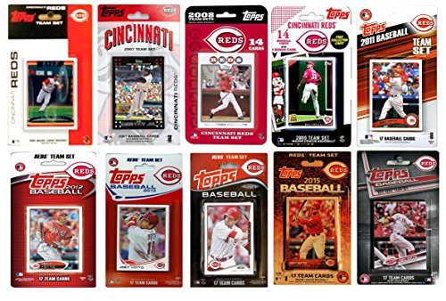 C&I Collectables MLB Cincinnati Reds Men's 10 Different Licensed Trading Card Team Sets, White from C&I Collectables
