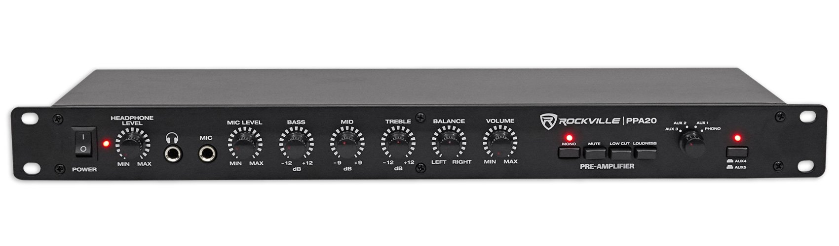 Rockville Amplifier Footswitch, Black (PPA20)