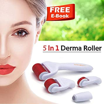 20a8359711a2b Amazon.com: Derma Roller Cosmetic Needling Instrument Face Body | Micro  Needle .25mm + | Includes Free Storage Case 5 in 1 kit | Soft Glow: Beauty