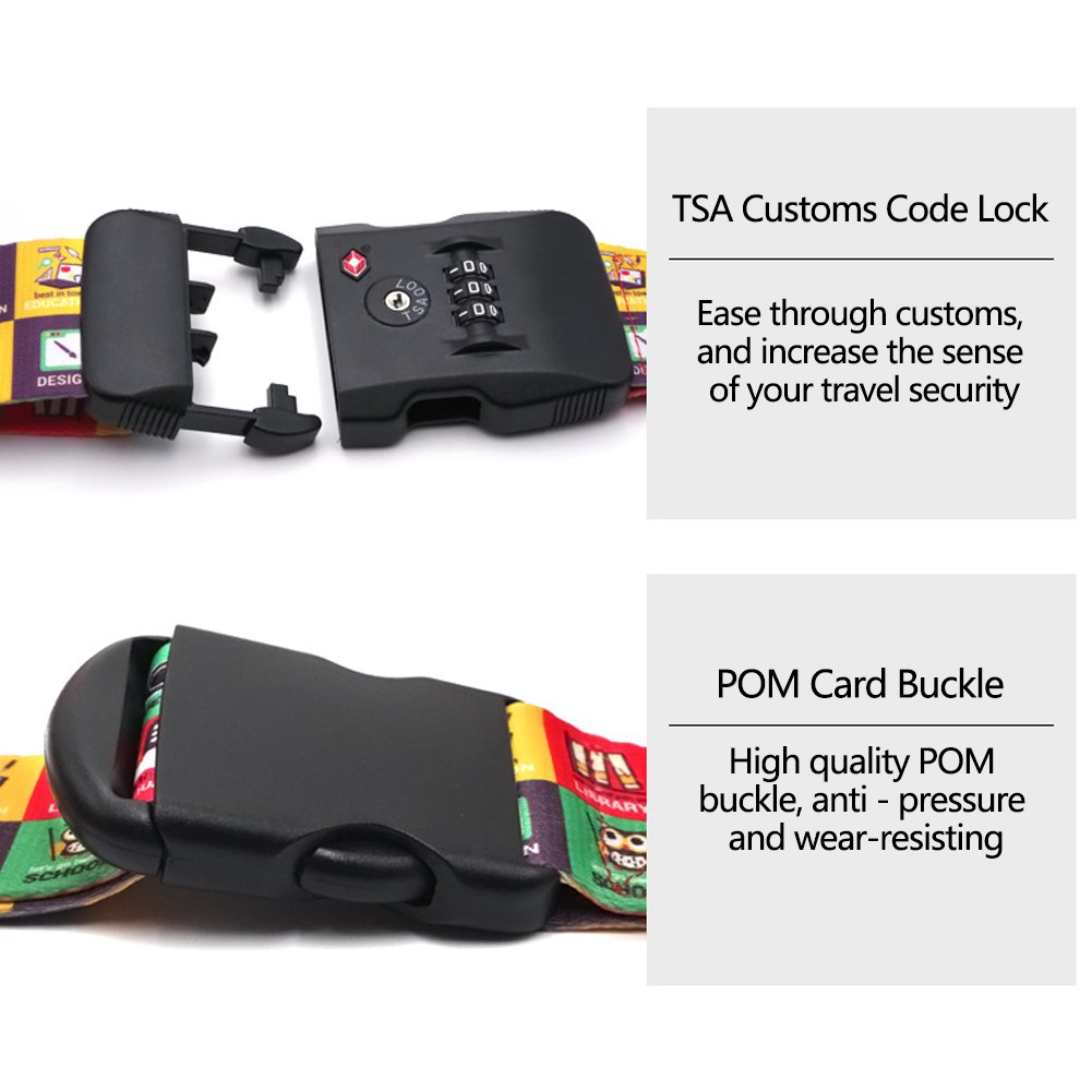 AOKARLIA TSA Lock Luggage Strap//Cross Bundling Thicken Suitcase Strapping//Trolley Case Bundle For Abroad Traveling//Business Trip